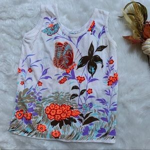 Vintage 1970s Butterfly floral tank Miss Holly L